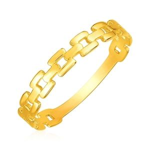 Jewelry - 14k Yellow Gold Chain Link Ring